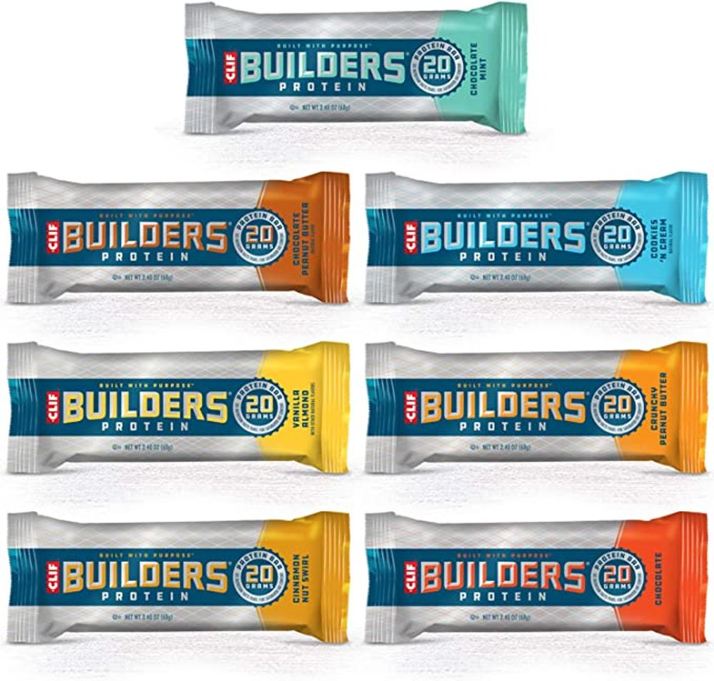 CLIF BAR - BUILDERS Protein Bar Variety Pack, 20 Grams of ...