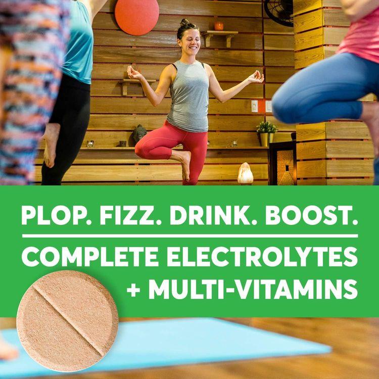 NuunVitamins:Vitamins + Electrolyte Drink Tablets, Blueberry Pomegranate, 8 Tubes (96Servings)