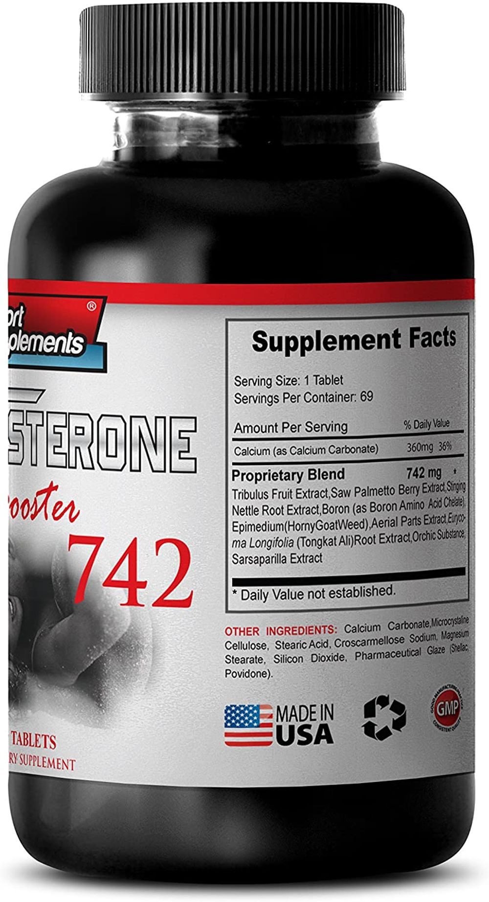 Best Testosterone Booster on The Market - Testosterone Booster 742 - Reduces Fat (2 Bottles