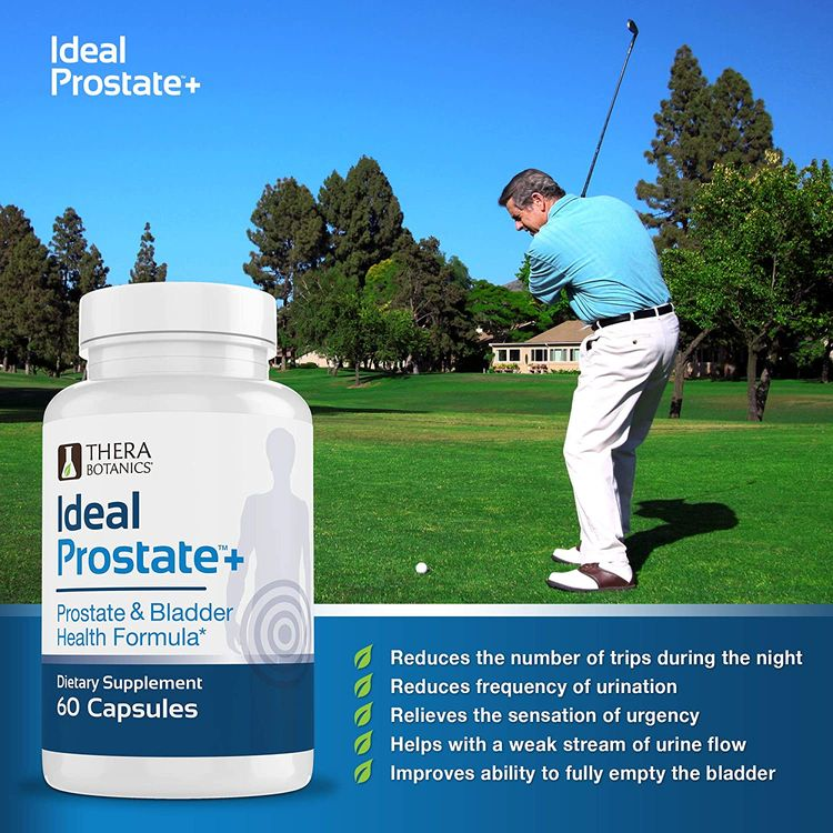 Ideal Prostate - Powerful Prostate Supplement for Men – Natural Prostate Relief with Saw Palmetto, Beta Sitosterol, Lycopene, Zinc, Horsetail & Vitamin D3 – 60 Capsules