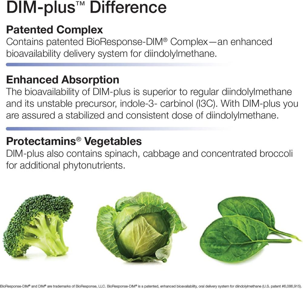 Nature's Way DIM-Plus Supplement, Diindolylmethane, 120 Capsules, (Packaging May Vary)