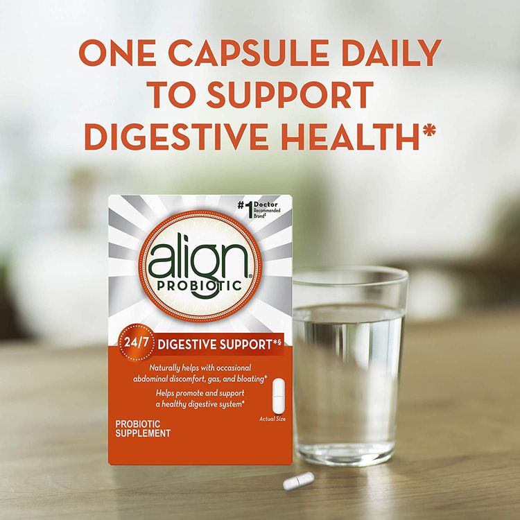 Align Probiotics Supplement, 63 Capsules, Natural Strain Probiotic Digestive Support for Adult Men and Women