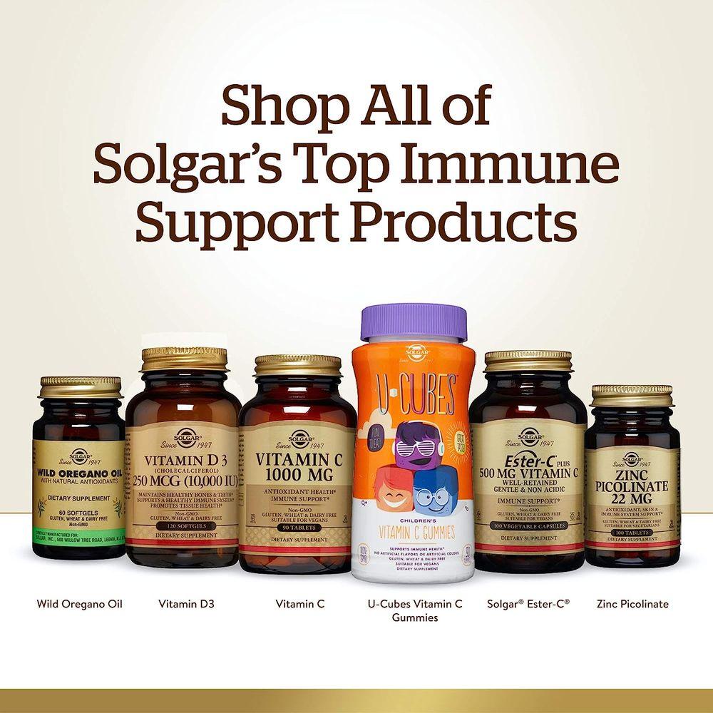 Solgar Zinc Picolinate 22 mg, 100 Tablets - Promotes Healthy Skin - Supports Immune System, Normal Taste & Vision - Antioxidant - Non GMO, Vegan, Gluten Free, Dairy Free, Kosher - 100 Servings