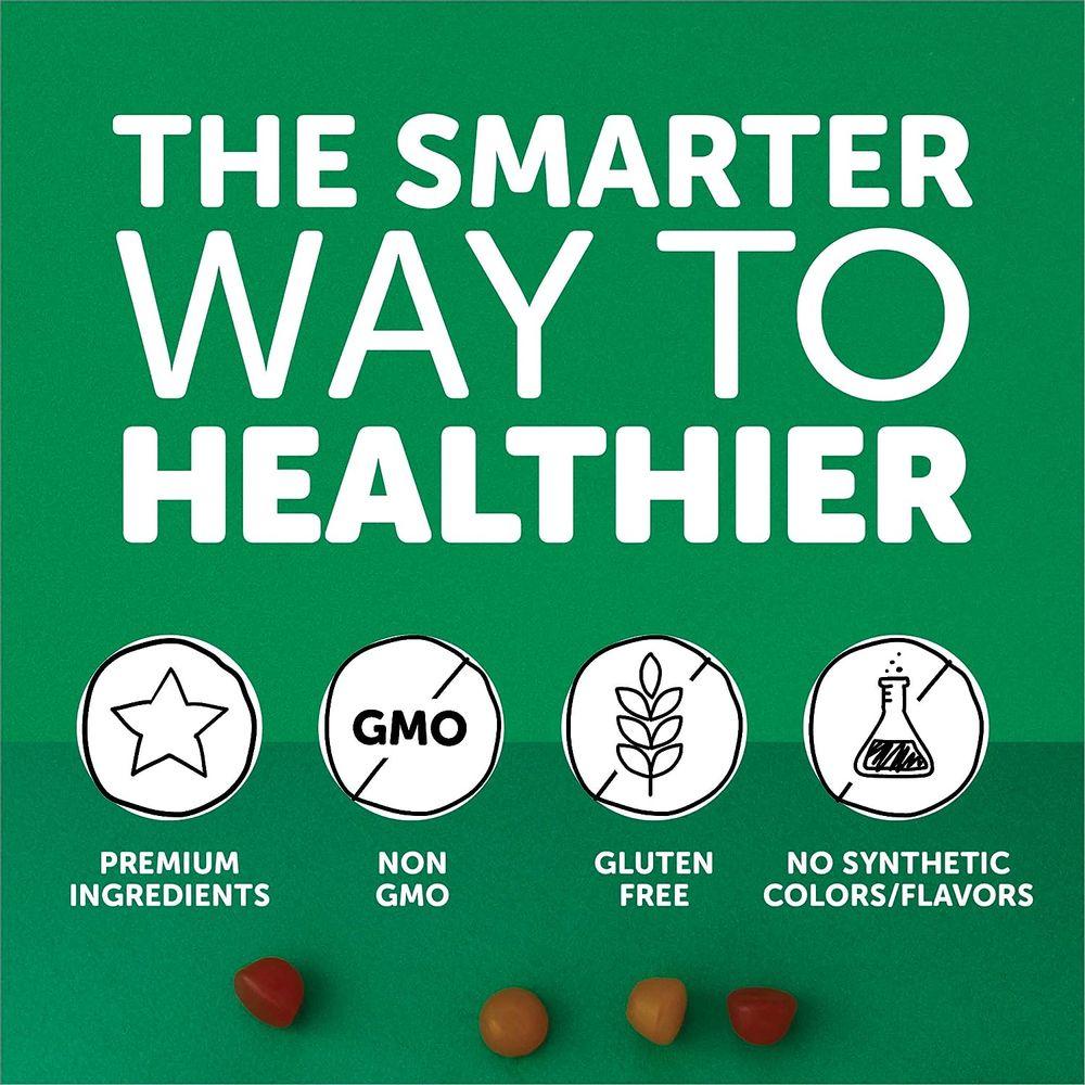 SmartyPants Kids Formula & Fiber Daily Gummy Multivitamin: Fiber for Digestive Health, Vitamin C, D3, & Zinc for Immunity, Omega 3 Fish Oil (EPA & DHA), B6, Methyl B12, 120 Count (30 Day Supply)