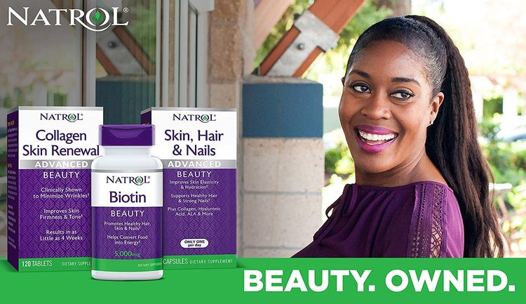 Natrol Biotin Beauty Tablets, Promotes Healthy Hair, Skin & Nails, Helps Support Energy Metabolism, Helps Convert Food Into Energy, 10,000mcg, 60Count, Strawberry
