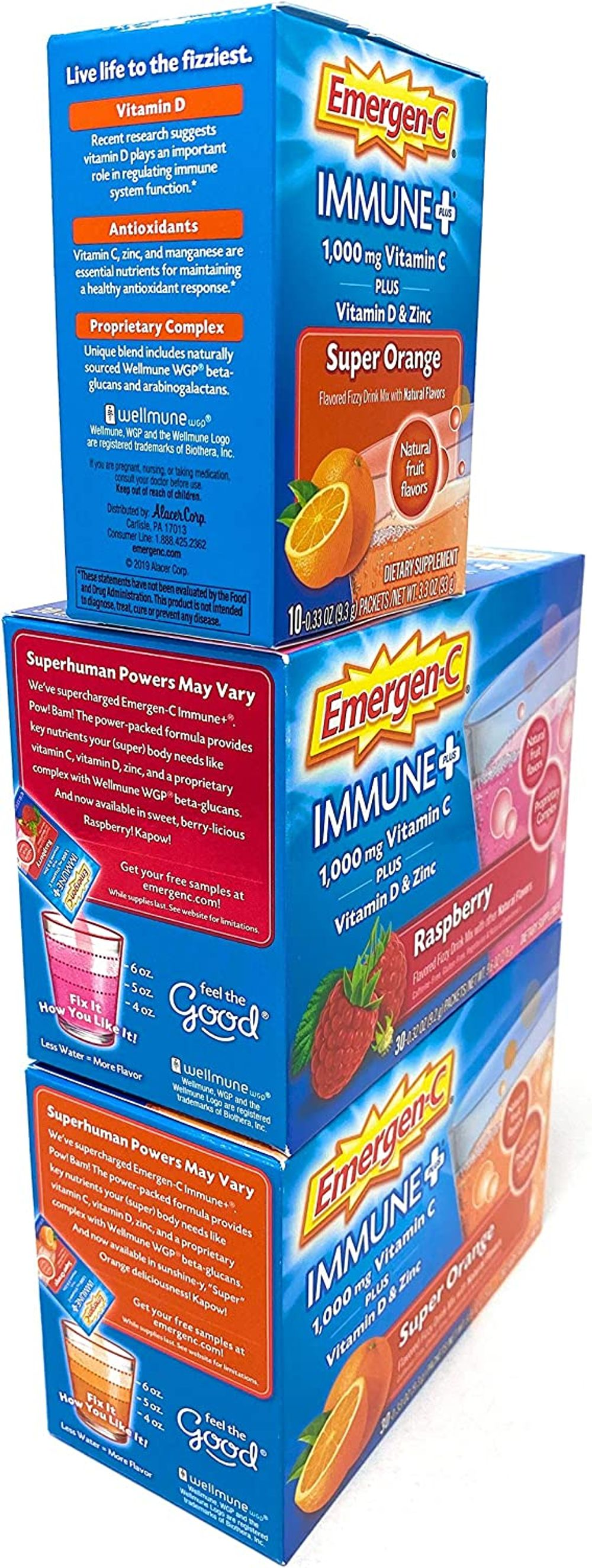 Emergen-C Immune Plus with Vitamin D and Zinc Variety Pack, 70 ct.