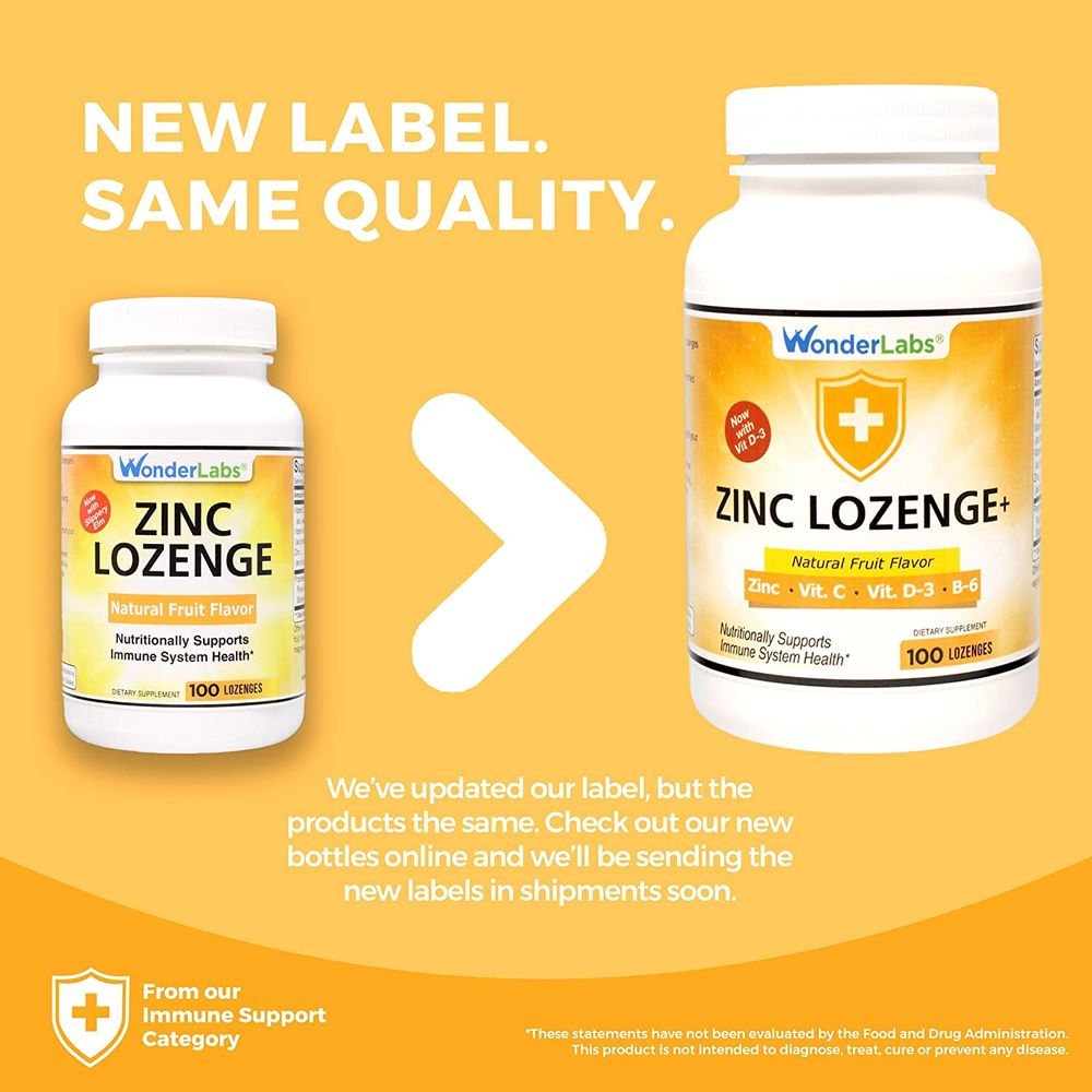 Zinc Lozenges with Vitamin C - Fruit Flavored, Healthy Immune Support Lozenges with 25mg of Zinc Supplement Per Lozenge + 30mg of Vitamin C - 100 Lozenges