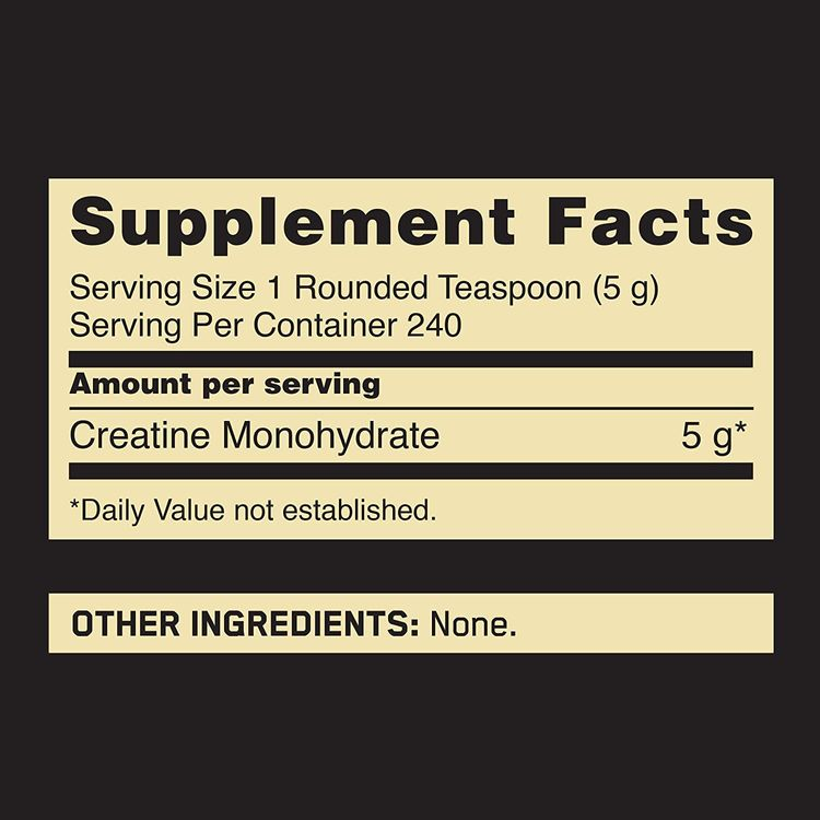Optimum Nutrition Micronized Creatine Monohydrate Powder, Unflavored, Keto Friendly, 240 Servings