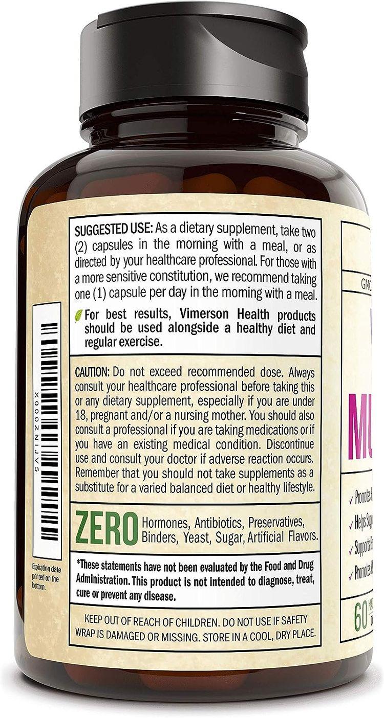 Women's Daily Multivitamin Multimineral Supplement. Vitamins and Minerals. Chromium, Magnesium, Biotin, Zinc, Calcium, Green Tea. Antioxidant Properties for Women. Heart, Breast Health. 60 Capsules