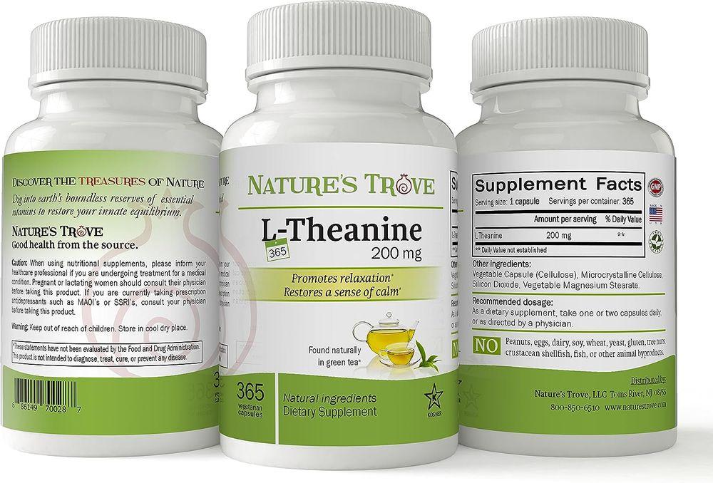 L-Theanine 200mg Super Value Size - 365 Vegetarian Capsules