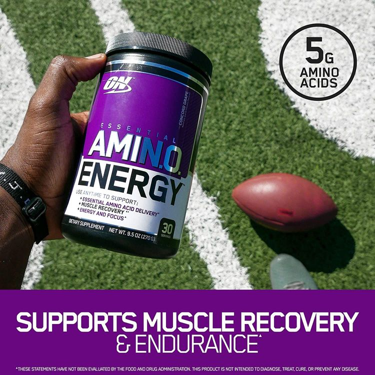 OPTIMUM NUTRITION Essential Amino Energy, Green Apple, Preworkout and Essential Amino Acids with Green Tea and Green Coffee Extract, 30 Servings - 9.5 Ounces