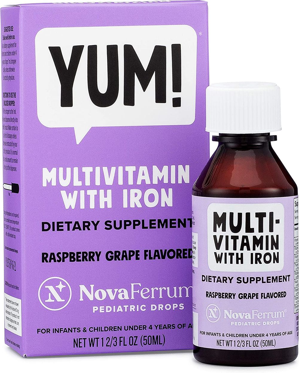 NovaFerrum Multivitamin with Iron for Infants and Toddlers 2 fl oz (50 mL)