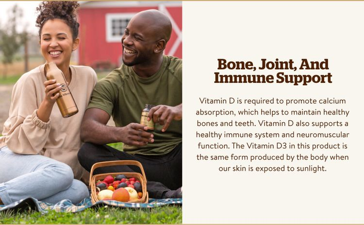 Support Immune System Vitamin D3 (Cholecalciferol) 250mcg (10000 IU) Softgels; healthy immune system
