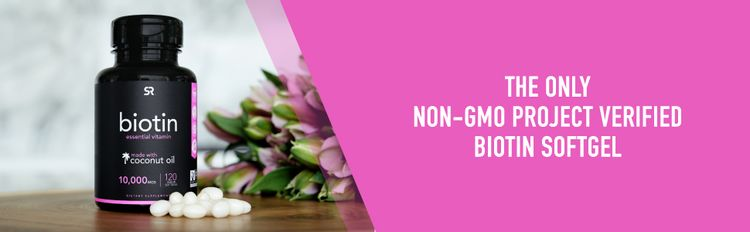 Sports Research Biotin 10,000mcg non gmo project verified vegan certified
