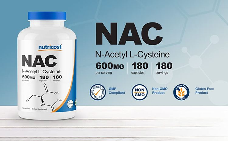 Nutricost NAC N-Acetyl L-Cysteine Capsules