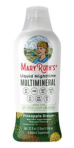Mary Ruth multivitamin trace minerals citrate organic sleep nighttime vegan supplement antioxidants