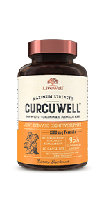 CurcuWell Maximum Strength High-Potency Curcumin and Boswellia Blend