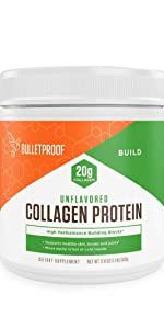 Bulletproof collagen peptides protein keto grass fed high performance amino acid building blocks