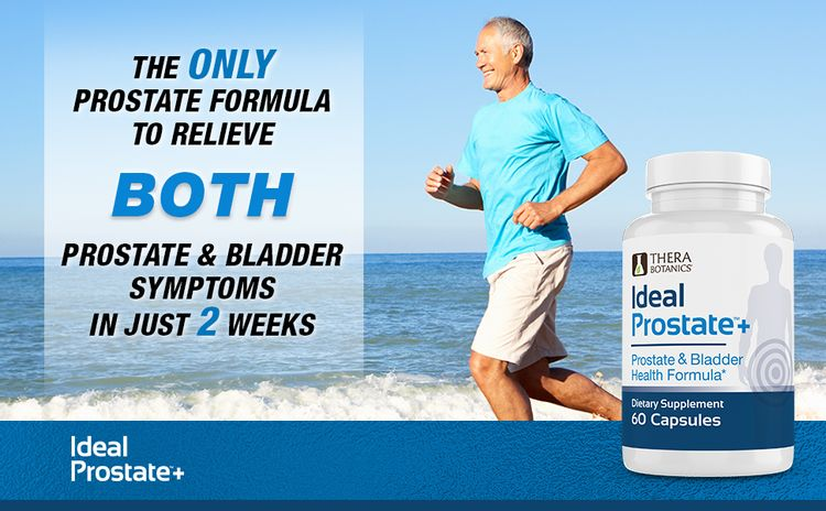 Ideal Prostate Plus  The only prostate formula to relieve both prostate and bladder symptoms