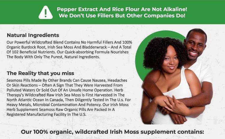 natural sea moss dr sebi bladderwrack burdock root capsules organic irish supplement seaweed pills