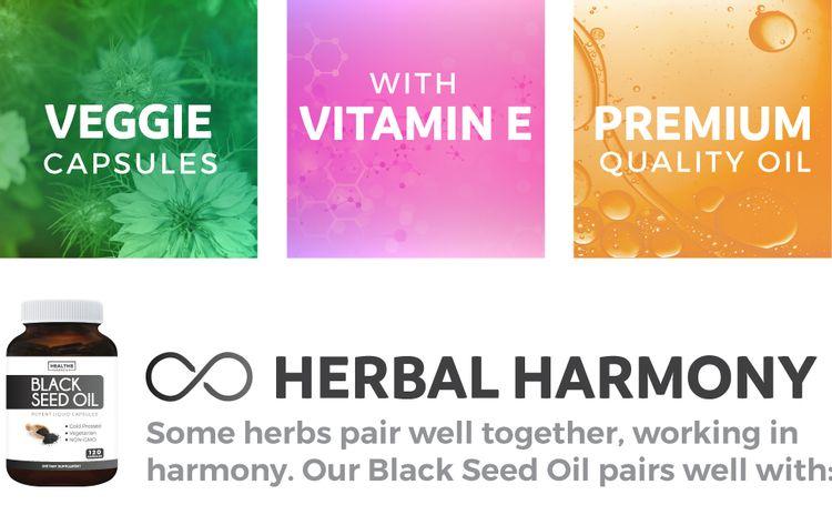 Vegan Black Seed Oil Capsules with Vitamin E