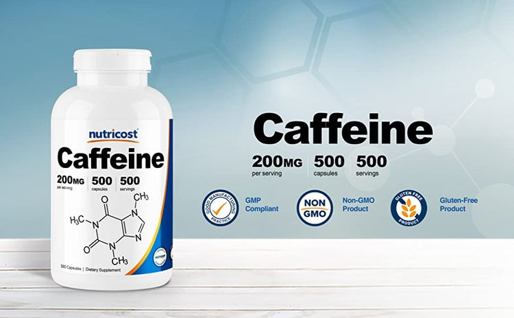 caffeine capsules caps pills by Nutricost