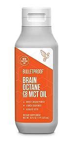 Bulletproof MCT Oil C8 Keto Brain Octane Oil Fat burning energy boost