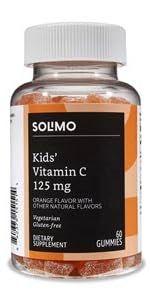 Solimo Kids vitamin c gummies 125mg