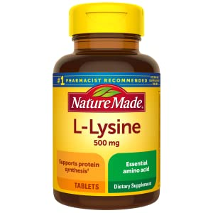 Nature Made Extra Strength L-Lysine 1000 mg Tablets