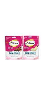 Caltrate 600 plus d three Soft Chews, Caltrate Soft Chews, Caltrate 600 d Soft Chews