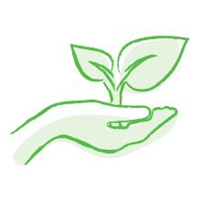 Gaia Icon Representing our goal of connecting plants & people