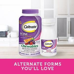 calcium supplements, Caltrate, Caltrate tablet, Caltrate 600 plus D3 Plus Minerals Chewables