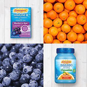 Emergen-C, EmergenC, Immune Plus, Vitamin C, Immune Support, Drink Mix, Powder, Chewables