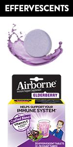 Airborne Elderberry Extract + Vitamin C Effervescent Tablets