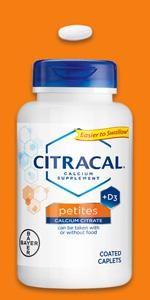 Citracal Petites caplets sugar free natural citrical calcium citrate pitites vitamin D osteoporosis