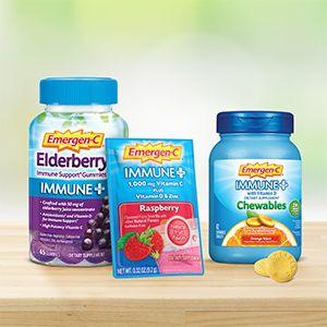 Emergen-C, EmergenC, Immune Plus, Vitamin C, Immune Support, Gummies, Chewables, Powder