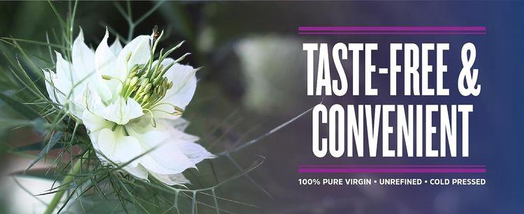 Taste Free and convenient. 100% pure virgin unrefined cold pressed