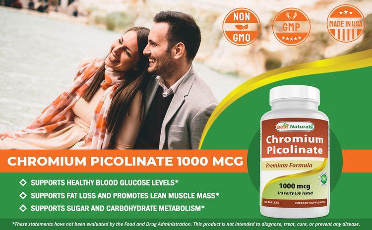 Chromium Picolinate 1000 mcg 120 Tablets