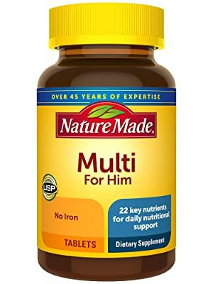 Nature Made Men's Multivitamin Tablets for Daily Nutritional Support†