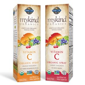 garden of life, mykind, vitamin c spray, usda organic, non gmo project verified,