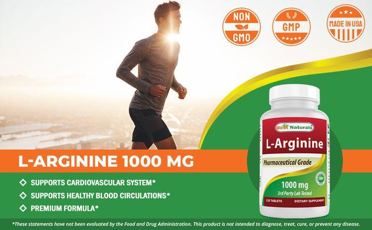 L-Arginine 1000mg 120 Tablets