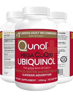 Ubiquinol CoQ10 100mg Supplements Qunol Mega Softgels
