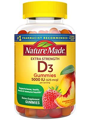 Nature Made Extra Strength Vitamin D3 125 mcg Gummies for Bone, Teeth, Muscle & Immune Health†