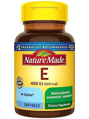 Nature Made Vitamin E 180 mg (400 IU) dl-Alpha Softgels