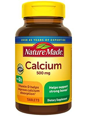 Nature Made Calcium 500 mg Tablets with D3