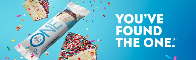 One Bar, One Brands, One Protein Bar, Protein Bar, Birthday Cake, Birthday Cake Protein Bar, One