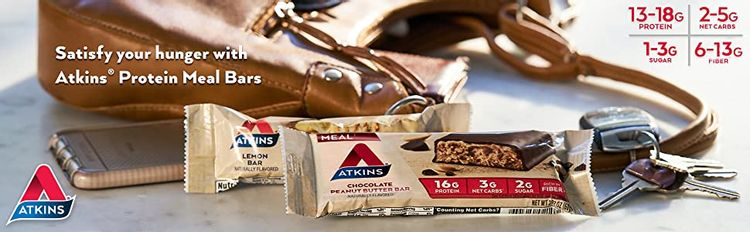 atkins low carb meal bar keto friendly protein meal replacement