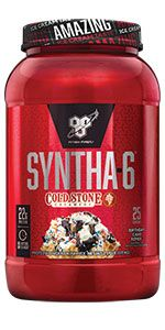 SYNTHA-6 Cold Stone  Creamery is an ultra-premium protein powder with 22g protein per serving