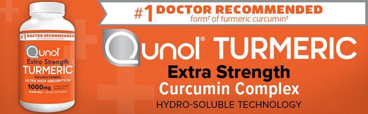 Turmeric Curcumin 1000mg Softgels Qunol Pain Relief Extra Strength Qunol