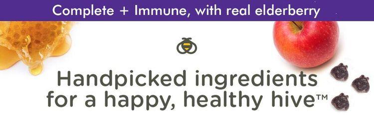 Zarbee's Naturals Children's Complete Multivitamin + Immune with Elderberry Gumm